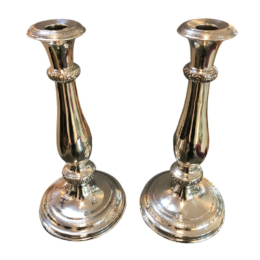 Ezüst gyertyatartó pár 1844 Bécs 630 g
